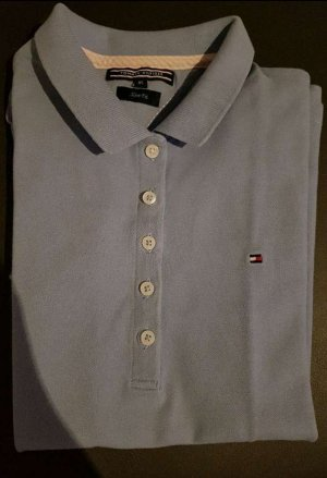 Tommy Hilfiger Polo Shirt azure cotton