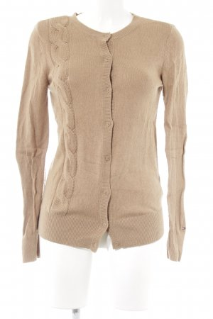 Tommy Hilfiger Cardigan beige Zopfmuster Casual-Look
