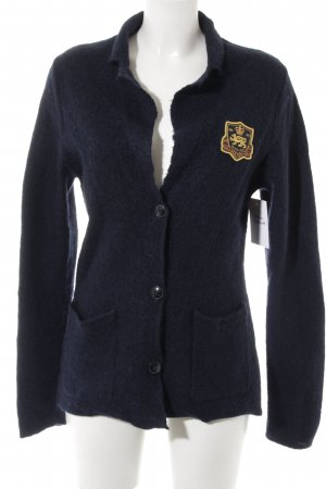 Tommy Hilfiger Cardigan dunkelblau Business-Look
