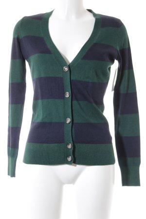 Tommy Hilfiger Cardigan dunkelblau-waldgrün Streifenmuster College-Look