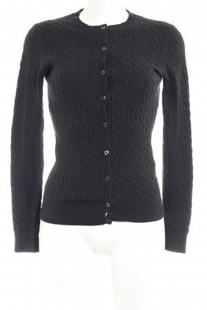 Tommy Hilfiger Cardigan schwarz Zopfmuster Casual-Look