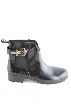 Tommy Hilfiger Botines Chelsea negro-color oro look casual