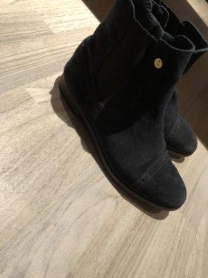 Tommy Hilfiger Chelsea laarzen donkerblauw Suede