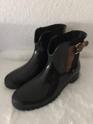 Tommy Hilfiger Slip-on Booties black-cognac-coloured