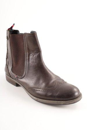 Tommy Hilfiger Chelsea laarzen donkerbruin casual uitstraling