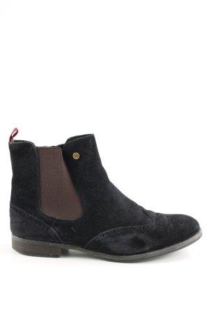 Tommy Hilfiger Chelsea Boot noir-brun style d'affaires