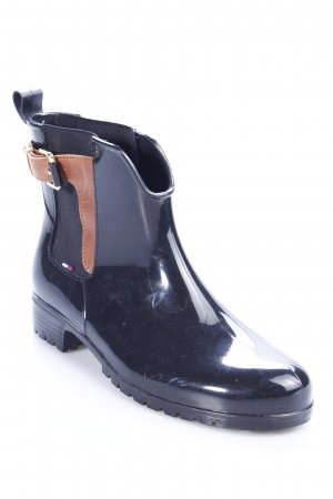 Tommy Hilfiger Chelsea Boots schwarz-braun Casual-Look