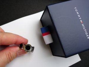 Tommy Hilfiger CLASSIC SIGNATURE Ring silberfarben/schwarz Gr. 56