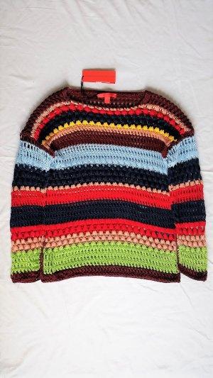 Tommy Hilfiger Collection, Pullover, Baumwolle, mehrfarbig, gestreift, M, neu, € 550,-