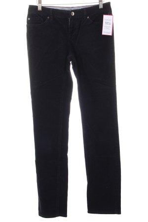 Tommy Hilfiger Pantalón de pana azul oscuro look casual
