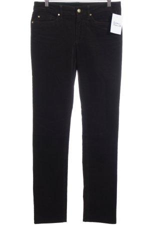 Tommy Hilfiger Pantalone di velluto a coste marrone scuro-oro stile casual
