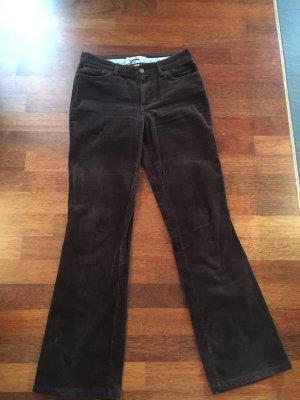 Tommy Hilfiger Pantalone di velluto a coste marrone scuro