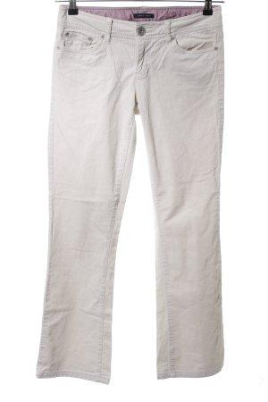 Tommy Hilfiger Pantalone di velluto a coste bianco sporco stile casual