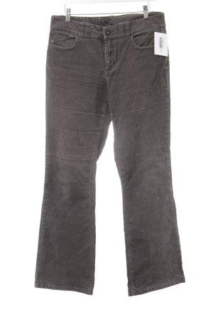 Tommy Hilfiger Pantalon en velours côtelé gris style décontracté