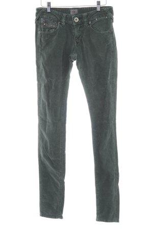 Tommy Hilfiger Pantalone di velluto a coste grigio-verde stile casual