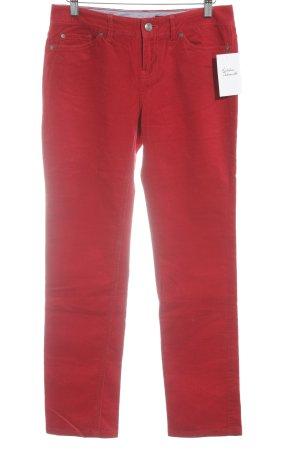 Tommy Hilfiger Pantalone di velluto a coste rosso stile casual