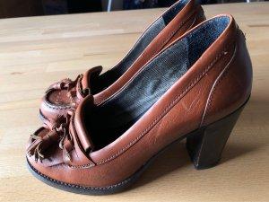 Tommy Hilfiger Chaussure décontractée cognac cuir
