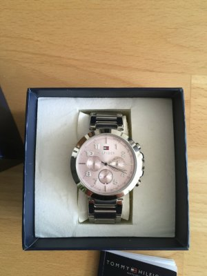 Tommy Hilfiger Analog Watch silver-colored-pink stainless steel