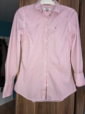 Tommy Hilfiger Chemise à manches longues blanc-rouge foncé