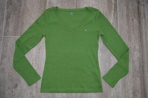 Tommy Hilfiger Top à manches longues vert forêt coton