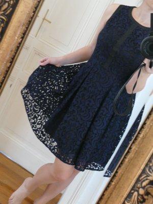 Tommy Hilfiger Damen Schwarz Blau Kleid Party 36 S (DE) 6 (US) Neu mit Etikett Baumwolle