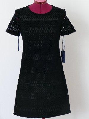 Tommy Hilfiger Damen Schwarz Velvet Kleid Party 36 S (DE) 6 (US) Neu mit Etikett
