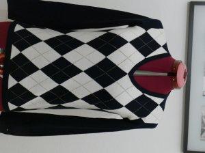Tommy Hilfiger Damen V-Neck Pullover Sweater Gr. S 36 Mehrfarbig blau weiß NEU fine