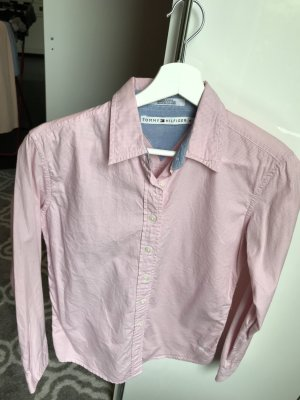 Tommy Hilfiger Checked Blouse white-light pink cotton