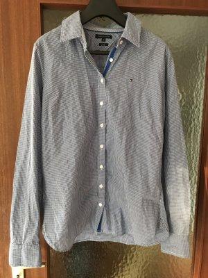 Tommy Hilfiger Geruite blouse blauw-wit
