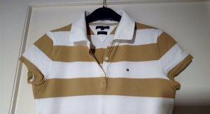 Tommy Hilfiger Polo shirt zandig bruin-wit