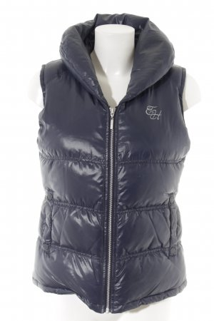 Tommy Hilfiger Donsvest donkerblauw-zilver quilten patroon casual uitstraling