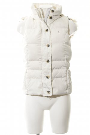 Tommy Hilfiger Donsvest wit-wolwit quilten patroon casual uitstraling