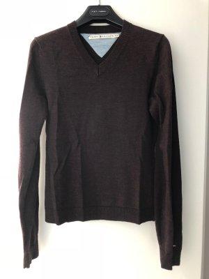 Tommy Hilfiger V-Neck Sweater dark brown wool