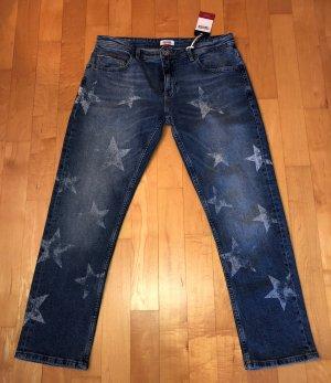 Tommy Hilfiger Denim 7/8 Jeans Cropped Sterne W29 Gr.38 Neu