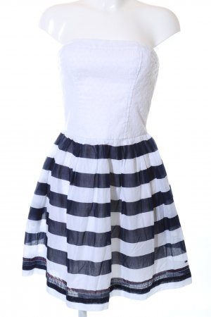 Tommy Hilfiger Denim Bandeau Dress white-blue striped pattern casual look