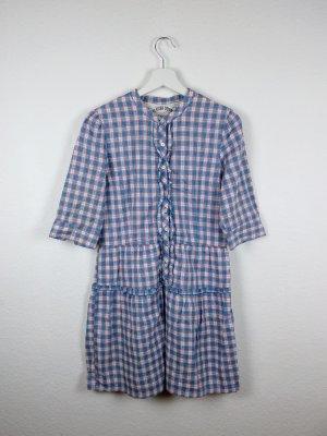 tommy hilfiger denim blusen kleid M 38 -NEU- blau rosa weiß süß hippie indie