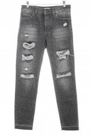 Tommy Hilfiger Denim Boyfriend jeans grijs-donkergrijs stedelijke stijl
