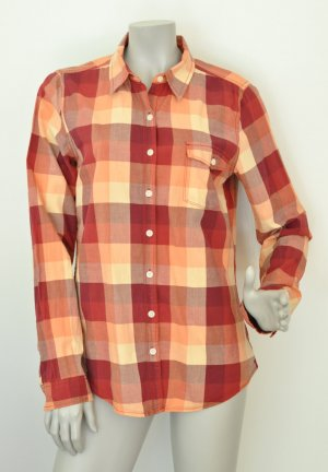 Tommy Hilfiger Denim Hemdbluse Bluse Baumwolle orange rot kariert Gr. XL / X-Large WIE NEU