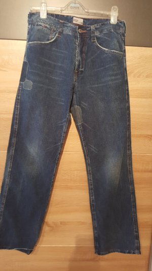 Tommy Hilfiger Baggy Jeans dark blue cotton