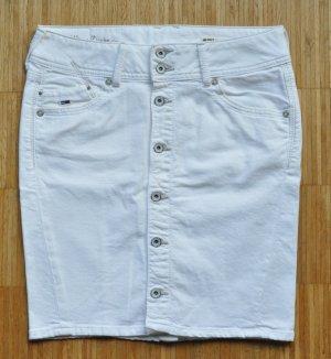 Tommy Hilfiger Denim Jeans Rock SONORA SKIRT Baumwoll-Stretch Gr. M weiß