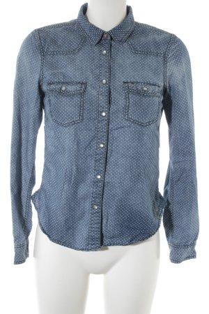 Tommy Hilfiger Denim Blouse en jean blanc-bleu acier motif de tache