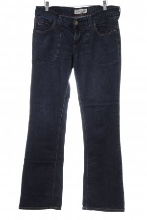 Tommy Hilfiger Denim Jeansschlaghose dunkelblau Washed-Optik