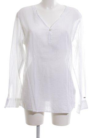 Tommy Hilfiger Denim Langarm-Bluse weiß schlichter Stil