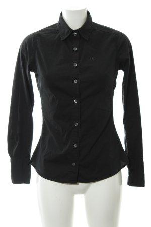 Tommy Hilfiger Denim Langarm-Bluse schwarz Casual-Look