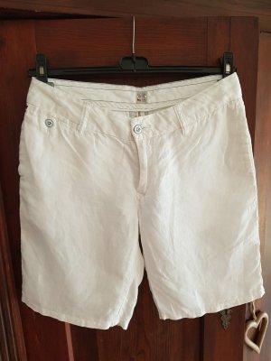 Tommy Hilfiger Denim Leinen-Shorts, weiß, Gr.L / 40