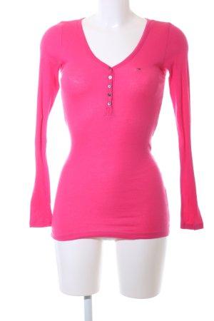 Tommy Hilfiger Denim Longsleeve pink Casual-Look