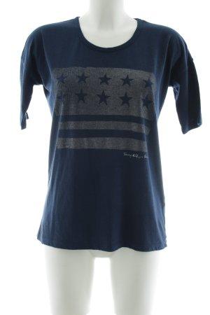 Tommy Hilfiger Denim Print-Shirt dunkelblau Sternenmuster Casual-Look