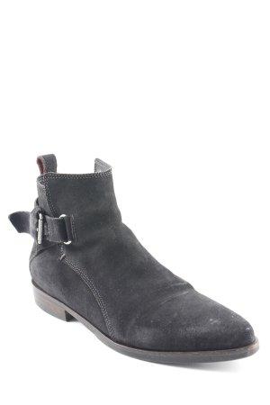 Tommy Hilfiger Denim Reißverschluss-Stiefeletten schwarz Casual-Look