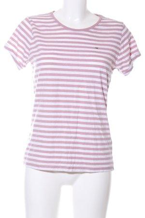Tommy Hilfiger Denim Ringelshirt pink-weiß Streifenmuster Casual-Look