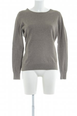 Tommy Hilfiger Denim Kraagloze sweater grijs-bruin zakelijke stijl
